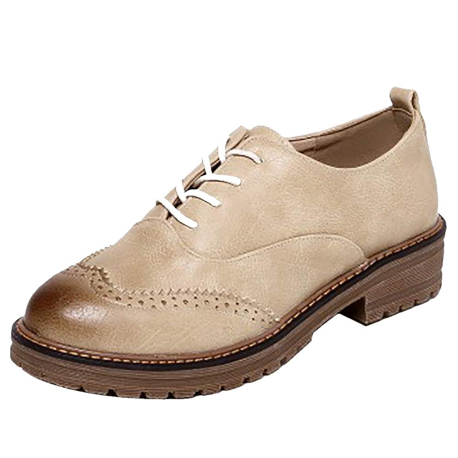 企業あいまいさ泥棒[NIGHT CHERRY] レディース オックスフォード シューズ ラウンドトゥ 通学 靴 制服