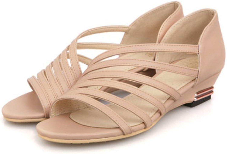 Oppicong Sneakers Women shoes Cut-Outs Low Heel Zip Open Toe Ladies Sandals in Winter Comfortable