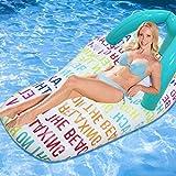 Piscina de cama de aire flotante de la fila inflable, agua de verano hilera...