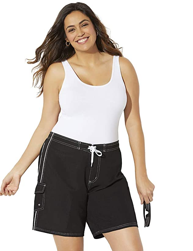 Swimsuits for All Women's Plus Size Board Short