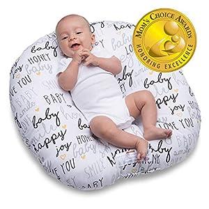 crib bedding and baby bedding boppy original newborn lounger, hello baby black and gold
