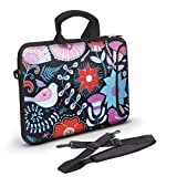 Anyshock Ultraportable Laptop Case,Neoprene Sleeve Shoulder Computer Carry Bag (17-17.3inch, Black/Painted)