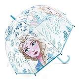 Paraguas Frozen 2 Elsa Paraguas Transparente Cúpula Infantil Paraguas Resistente Paraguas Niña Niño 69cm Color Verde