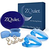 ZQUIET Anti-Snoring Mouthpiece Solution, 2-Size Comfort System Starter Kit + Nasal Dilator (2 Pack / 30 Day Supply) - Made in USA & FDA Cleared
