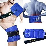 Paquete de gel frío y caliente reutilizable - para rodillas, hombros, espalda baja, tobillos y pies - se pueden usar para lesiones deportivas, hinchazón, esguinces, artritis, Aquiles -15'x 7'