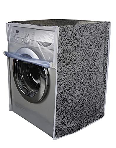Emortl Front Load Washing Machine Cover   LG Washing Machine Cover 6kg, 6.5 kg, Fully Automatic, semi Automatic (50Cms x 63Cms x 81Cms_Black, Grey) Multicolor