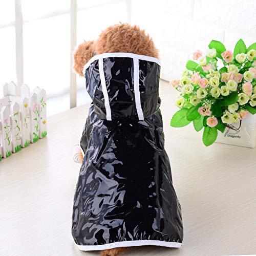 Huisdier Hond Regenjas voor Honden Waterdichte Hond Regenjas Chihuahua Teddy Kleding voor Kleine Honden Puppy Outfit Black M-suit 2.5-3.5kg