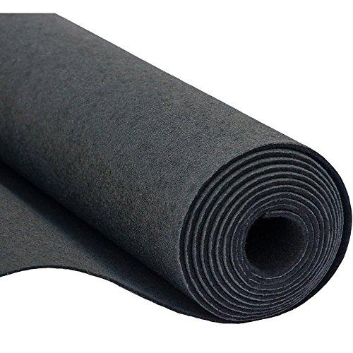 SOFT Filz, Filzstoff, Dekorationsfilz, Weicher Filz, Breite 150cm, Dicke 3mm, Meterware 0,5lfm - schwarz