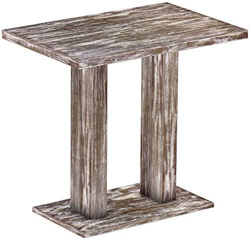 Brasilmöbel Rio UNO - Tavolo da bar in legno di pino massiccio, 120 x 80 cm, stile shabby anticato, dimensioni e colore a scelta