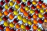 Bazare Masud e.K. HG-GKKO-4N7H, Orange, Flache Glaskugeln