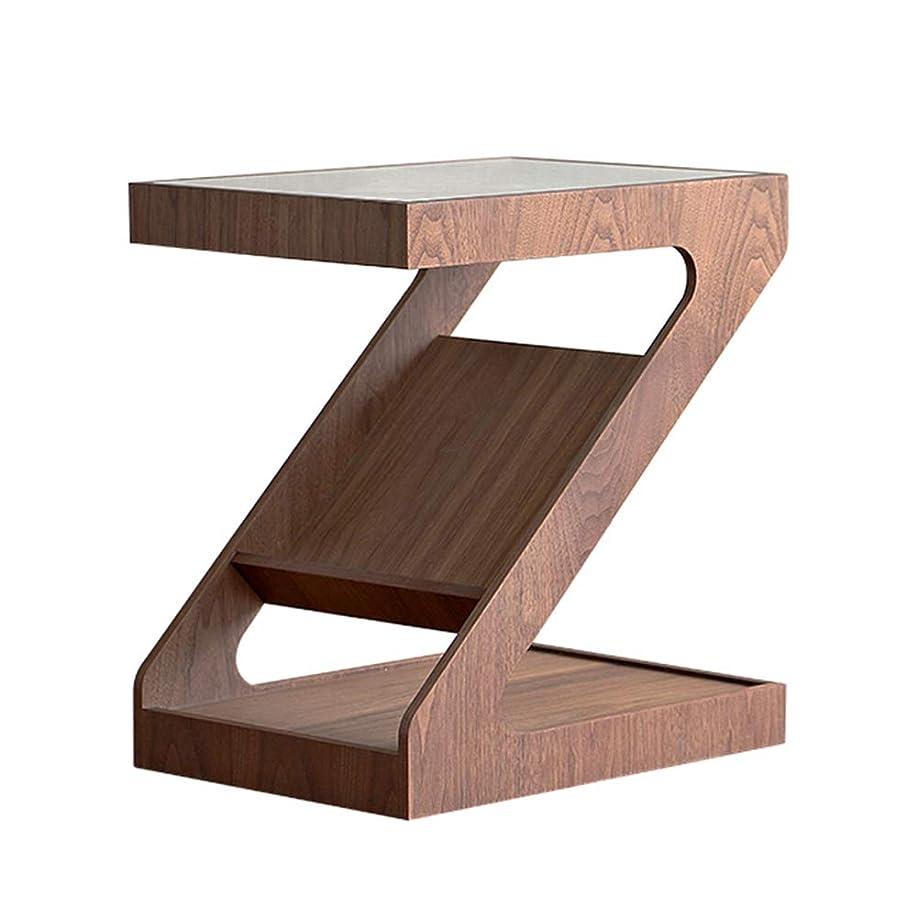 宿題歌手それからZR- Z形のサイドエンドテーブルコーヒーテーブル本棚ベッドサイドテーブル48 x 35 x 52 CM 家具 (Color : Brown)