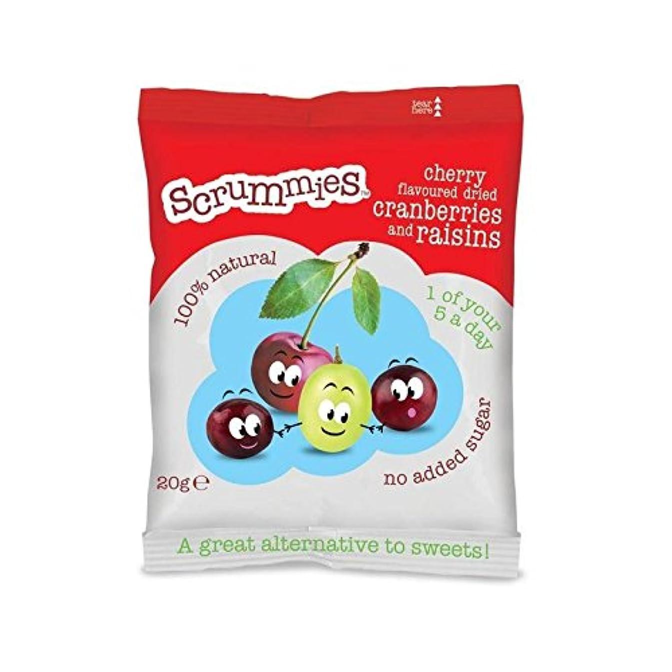 Scrummies Cherry Flavour Cranberries & Raisins 20g - Pack of 6