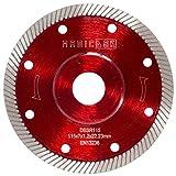 MAGICDSK DSSR115 Disco diamantato turbo sottile professionale, rinforzato, Ø 115 mm, foro 22,23 mm, taglio a secco: gres porcellanato, graniti, ceramica, quarzite, marmo