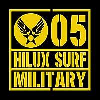 ミリタリー HILUX SURF ハイラックスサーフ カッティング ステッカー イエロー 黄