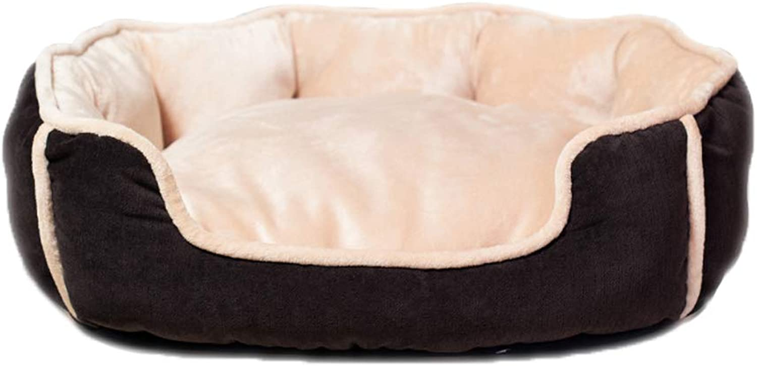 Kennel GAOLILI Cat Litter Seasons Washed Dog Bed Teddy Puppy Pet Supplies (Size   48  43  24cm)