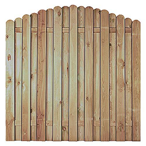 MEIN GARTEN VERSAND Stabile Holz Gartenzaun + Terrassen Sichtschutzelemente mit Bogenverlauf im Maß 180 x 180 auf 160 cm (Breite x Höhe) aus Kiefer/Fichte Holz, druckimprägniert Bochum