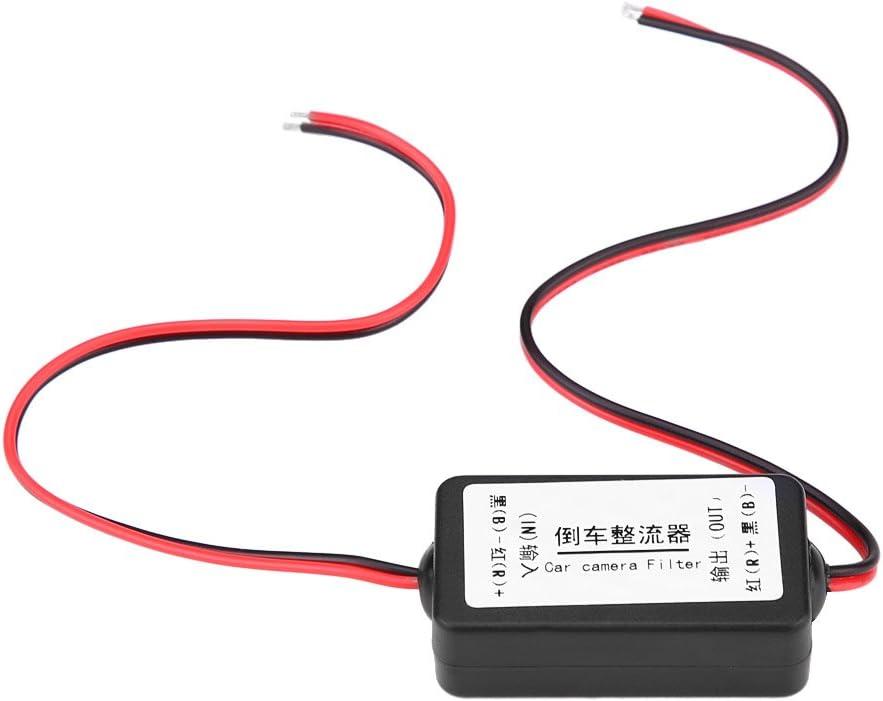 Adaptador de corriente del rectificador del condensador del filtro de 12V DC, cámara del retrovisor del coche Rectificador del filtro del condensador de la retransmisión del poder del relé de potencia