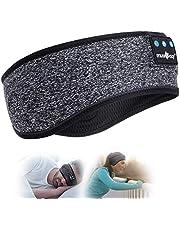 Sova hörlurar Bluetooth Sport Pannband Trådlös Musik Pannband Handfree Sovande Headset, IPX6 Vattentäta hörlurar