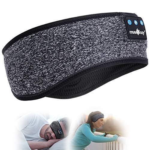 Schlaf Kopfhörer Bluetooth- V5.0 Sportskopfhörer Musik schlafen Stirnband Kopfhörer mit Ultradünnen HD Stereo Lautsprecher,Perfekt für Sport, Seitenschläfer, Flugreisen, Meditation und Entspannung