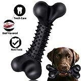 WenX Hundespielzeug Kauspielzeug unzerstörbares Hundespielzeug Zahnreinigung interaktives Spielzeug für kleine und mittlere Hunde (Schwarz(L))