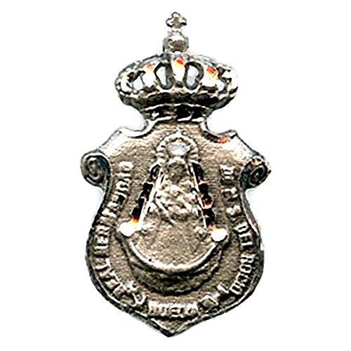 Medalla Virgen del Rocio Hermandad DE HUELVA 23x13 mm Plata DE Ley