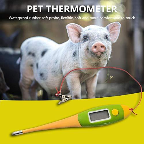 Niumen Speciale digitale elektronische thermometer voor huisdieren, varken hond koe schapen hores snelle thermometer zachte kop waterdicht beschermend kind