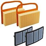2 pièces Filtre à air et préfiltre pour STIHL TS410 TS420 TS410Z TS420Z TS480 TS500i scie à tronçonner béton # 4238141 0300, 4238140 1800, 4238140 4401, 4238140 4402
