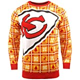BIG NFL Ugly Sweater Pullover Christmas Kansas City Chiefs Logo Weihnachtspullover -