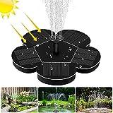 Solar Springbrunnen, otutun Solar Teichpumpe mit 1,5W Monokristalline Solar Panel Solarbrunnen, Solar Schwimmender Fontäne Pumpe für Vogelbad, Fisch-Behälter, Teich