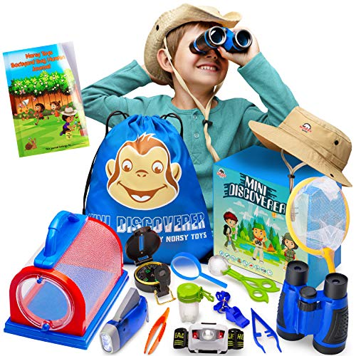 Bug Catching Kit - Kids Explorer Set & Mini Binoculars – Premium Quality Educational Toys for Your Toddlers, Outdoor Adventure, Hunting, Spy, Camping, Learning, Great Gift for Boys & Girls
