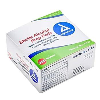 Dynarex Alcohol Prep Pad Sterile Medium 200 count