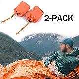 ELECTROPRIME 2pcs Emergency Sleeping Bag Thermal Waterproof Outdoor Survival Camping Bag Use