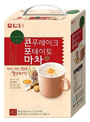 Damtuh Korean Cornflake Potato Yam Tea Breakfast Meal Replacement (Corn Flake Potato Yam) 40 Sticks