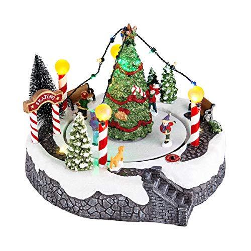 Butlers Winter Wonderland - Spieluhr Schlittschuhbahn - Weihnachtsdekoration