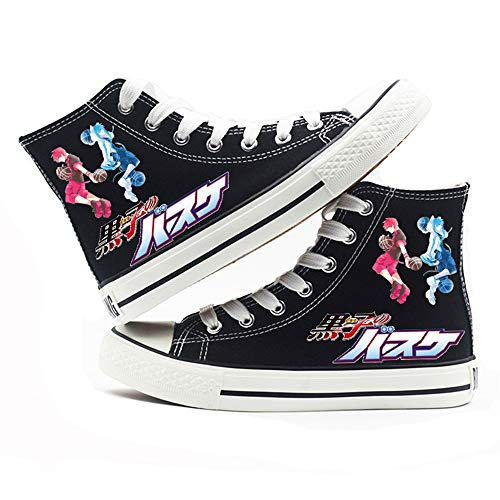 jiushice Kuroko 's Baloncesto, Cosplay zapatos de lona, zapatos unisex para adultos, con cordones, botines informales, zapatos deportivos para gimnasio, color, talla 42 2/3 EU
