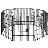 """i.Pet 30"""" 8 Panel Pet Dog Playpen Puppy Exercise Cage Enclosure Play Pen"""