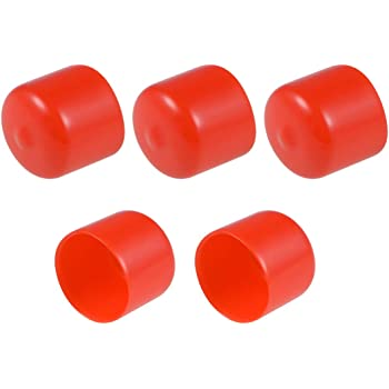 19mm uxcell 10pcs Rubber End Caps 3//4 ID Vinyl Round Tube Bolt Cap Cover Thread Protectors Red