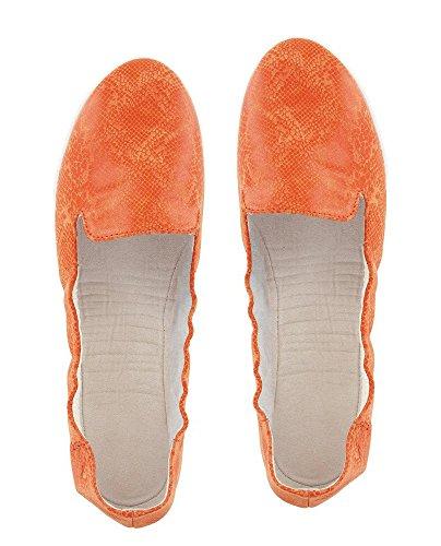 FitKicks Kruzers スリッポンスニーカーシューズ、オレンジ、XL US サイズ: One Size カラー: オレンジ