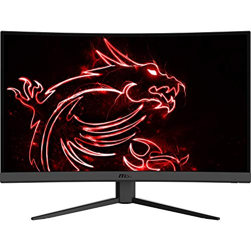 "MSI Optix G27C4 9S6-3CA91T-002 Moniteur de Jeu 27"" LED FullHD 165Hz (1920 x 1080p, ratio 16:9, Panel VA Écran incurvé 1500R, réponse 1 ms, luminosité 250 nits, antireflet, NTSC 0.85 et SRGB 1.15) Noir"