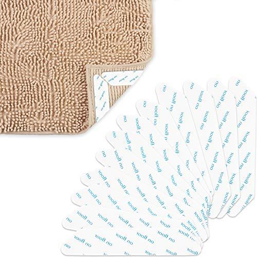 XINDA 12Stücke Doppelseitige Anti-Curling-Teppichgreifer Unterlage Anti-Rutsch-Teppichgriff Wiederverwendbarer wiederverwendbarer Teppichaufkleber für die Büroküche Badezimmer