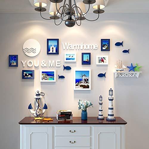 Rahmen Foto Wand Wand Kombination Wohnzimmer Foto Zimmer Schlafzimmer Moderne minimalistische Wand Kinderfoto Zimmer Wand Trendy Design (Farbe: A)