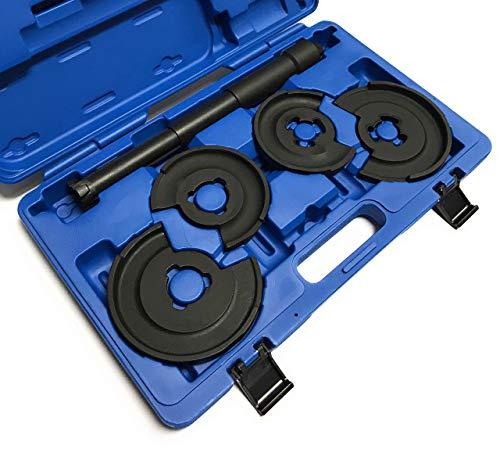 Alkan Innen-Federspanner Satz mit 2 paar Druckteller Tellersystem Feder Montage und Demontage Set für viele Fahrzeug-Typen (Fahrwerk-Instandsetzung Werkzeug)