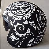 DataPrice Awen Casco Moto Homologado Abierto de Mujer y Hombre para Motocicleta, Ciclomotor y Scooter, Bicicleta ECE. Adhesivos y Llavero de REGALO. Modelos variados. (XL, Awen Arrow Maori)