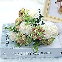 15フラワーヘッドシルクアジサイ造花白い結婚式の花小さな花束偽のフラワーパーティーDIYデコレーション、B12