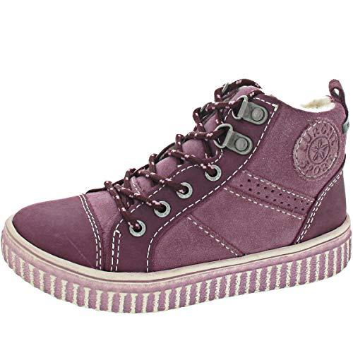 Lurchi Mädchen YOKA-TEX Hohe Sneaker, Violett (BlackBerry 29), 33 EU