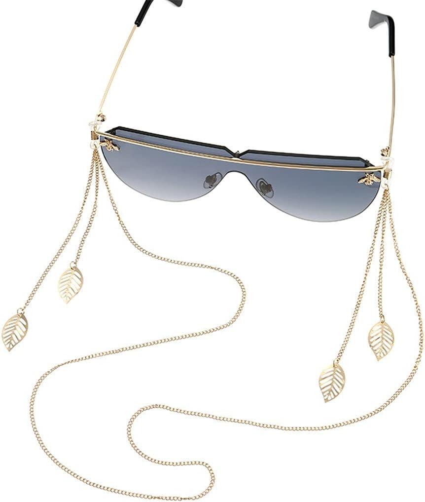 DIAOD Bohemia Metal Leaf Tassel Pendant Cords Reading Glasses Ch