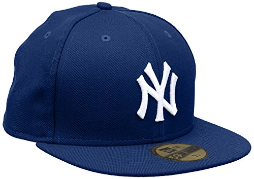 New Era MLB Basic NY Yankees 59 Fifty Fitted, Gorro para Hombre, Multicolor (Royal/White), 7 0/0 inch