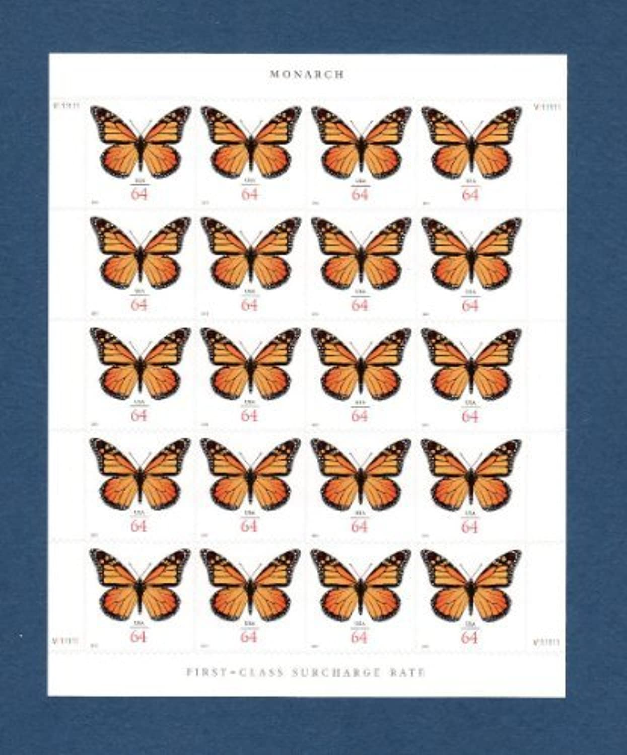 Monarch Butterfly Sheet of Twenty 64 Cent Stamps Scott 4462 by USPS