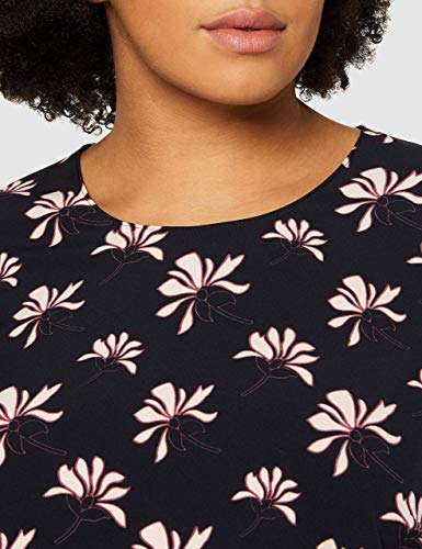GERRY WEBER Damen Kleid Vintage Flower Mehrfarbig (Indigo/ Merlot/Elfenbein 8144), 44 - 4
