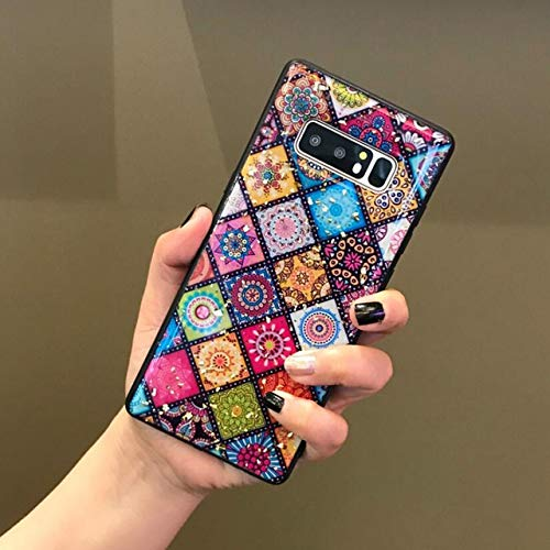 VCX Multi-Color Grid telefoonhoesje voor SG S10 S8 S9 Plus Bling Pailletten Gouden folie Bloem Epoxy Case Voor Samsung Note 9 8 10, For S10, Bloem